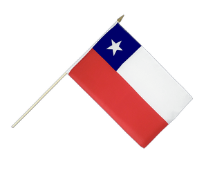 Chile Hand Waving Flag 12x18""