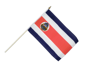 Costa Rica Hand Waving Flag 12x18""
