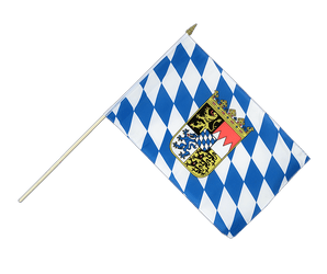 Bavaria with crest Hand Waving Flag 12x18""
