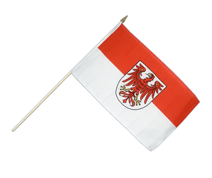 Brandenburg Hand Waving Flag 12x18""