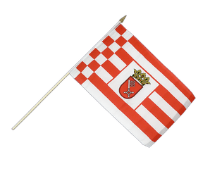 Bremen Hand Waving Flag 12x18""