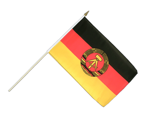 GDR Hand Waving Flag 12x18""