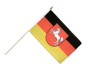 Lower Saxony - Hand Waving Flag 12x18""