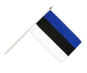 Estonia Hand Waving Flag 12x18""