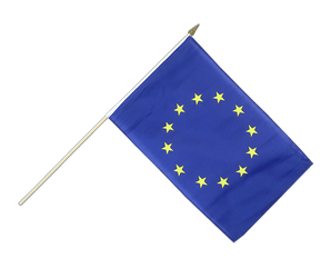 European Union EU Hand Waving Flag 12x18""