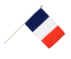 France Hand Waving Flag 12x18""