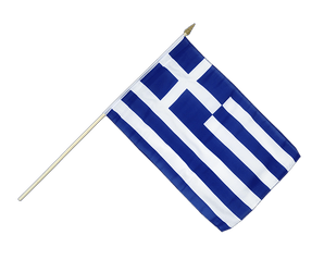 Greece Hand Waving Flag 12x18""
