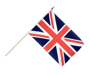 Great Britain Hand Waving Flag 12x18""