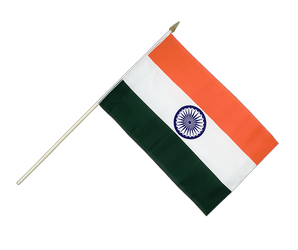 India Hand Waving Flag 12x18""