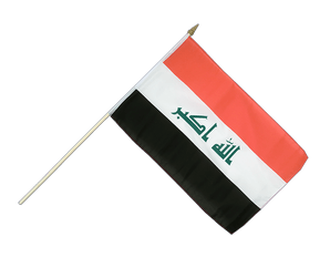 Iraq 2009 Hand Waving Flag 12x18""