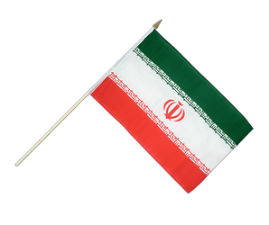 Iran Hand Waving Flag 12x18""