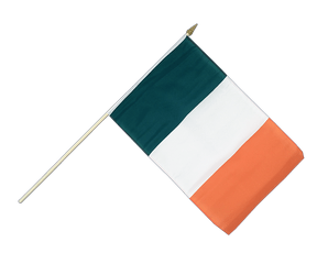Ireland Hand Waving Flag 12x18""