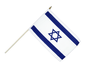 Israel Hand Waving Flag 12x18""