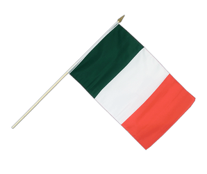 Italy - Hand Waving Flag 12x18""