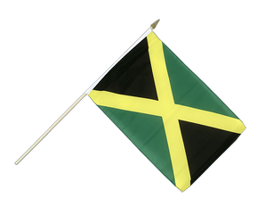 Jamaica Hand Waving Flag 12x18""