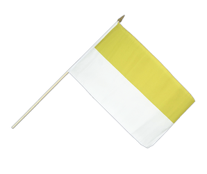 Church yellow white Hand Waving Flag 12x18""