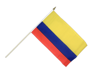 Colombia - Hand Waving Flag 12x18""