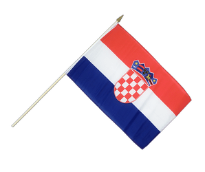 Croatia Hand Waving Flag 12x18""