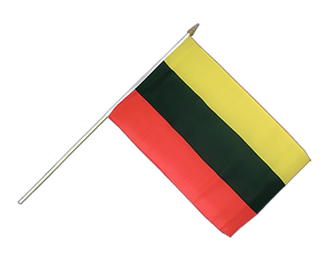 Lithuania Hand Waving Flag 12x18""