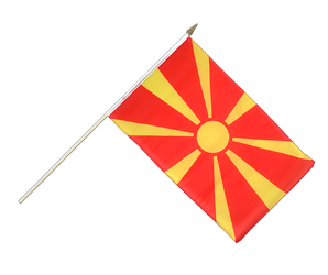 Macedonia - Hand Waving Flag 12x18""