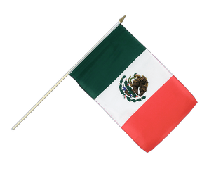 Mexico Hand Waving Flag 12x18""