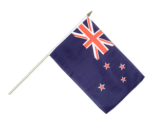 New Zealand Hand Waving Flag 12x18""