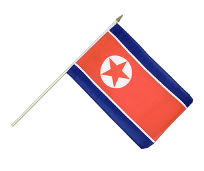 North corea Hand Waving Flag 12x18""