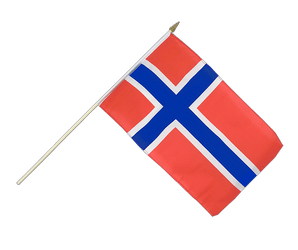 Norway Hand Waving Flag 12x18""