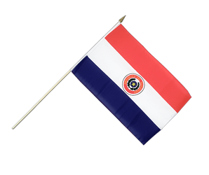 Paraguay - Hand Waving Flag 12x18""