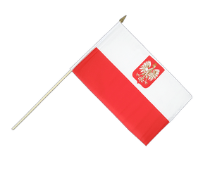 Poland with eagle - Hand Waving Flag 12x18""