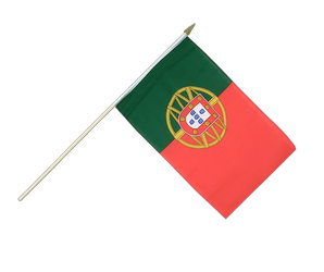 Portugal Hand Waving Flag 12x18""