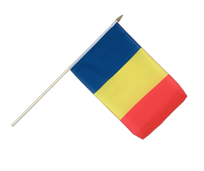 Rumania Hand Waving Flag 12x18""