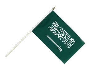 Saudi Arabia - Hand Waving Flag 12x18""