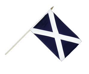 Scotland navy Hand Waving Flag 12x18""