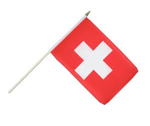 Switzerland - Hand Waving Flag 12x18""