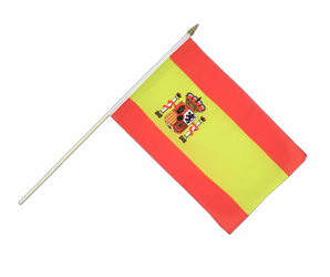Spain with crest Hand Waving Flag 12x18""