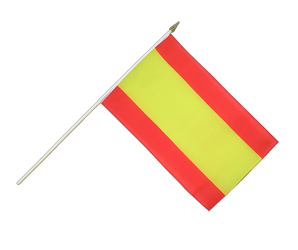 Spain without crest Hand Waving Flag 12x18""