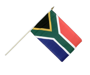 South Africa - Hand Waving Flag 12x18""