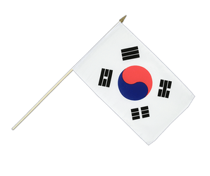 South Korea - Hand Waving Flag 12x18""