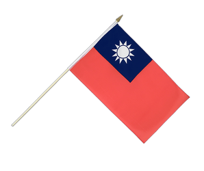 Taiwan Hand Waving Flag 12x18""