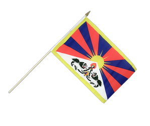 Tibet Hand Waving Flag 12x18""