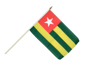 Togo Hand Waving Flag 12x18""