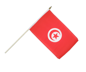 Tunisia Hand Waving Flag 12x18""