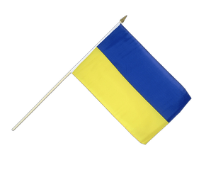 Ukraine - Hand Waving Flag 12x18""