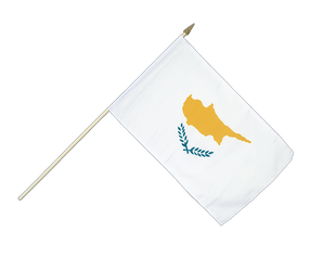 Cyprus - Hand Waving Flag 12x18""