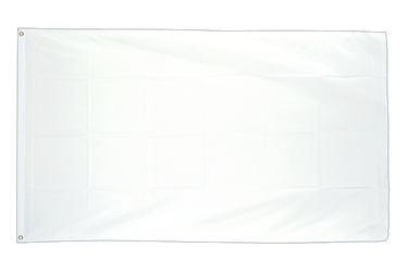 White 3x5 ft Flag