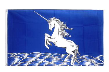 Unicorn blue 3x5 ft Flag