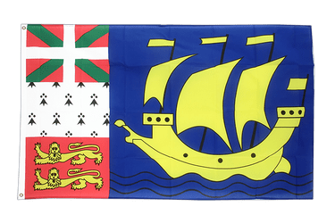 Saint Pierre and Miquelon 3x5 ft Flag