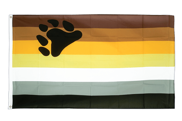 Gay Pride Bear 3x5 ft Flag