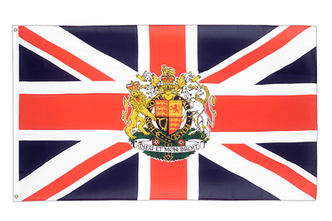 Great Britain with crest 3x5 ft Flag